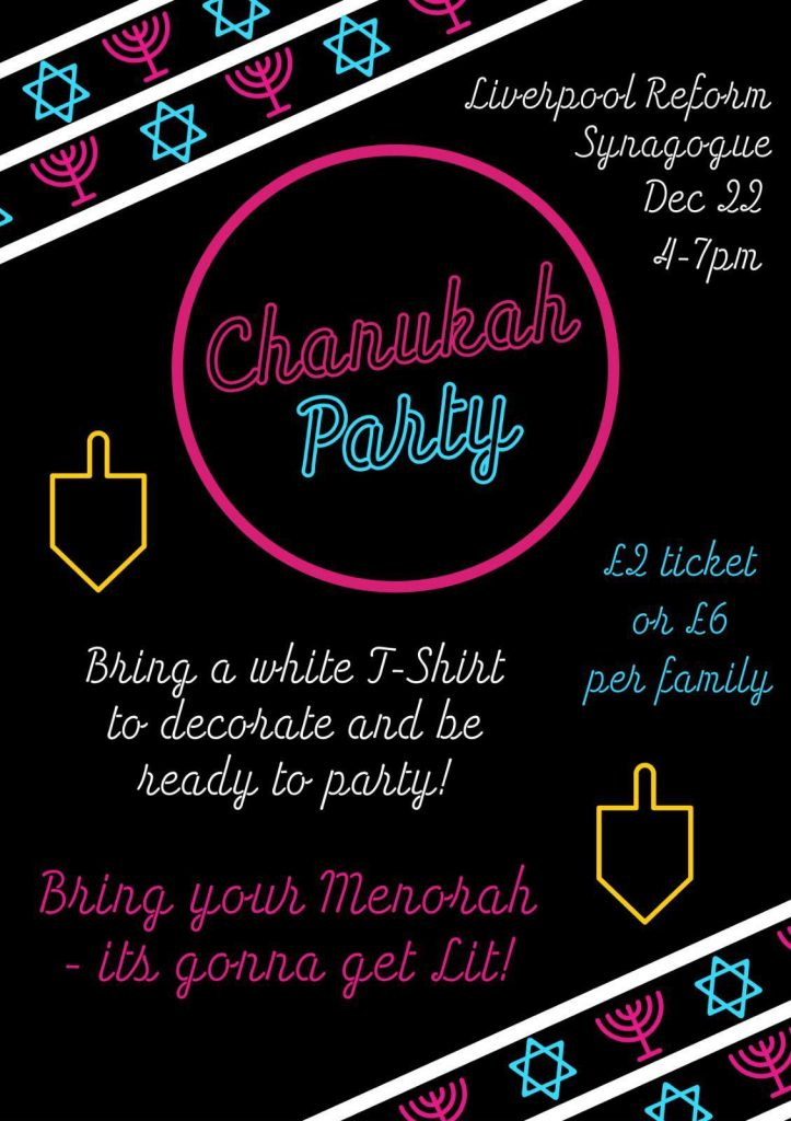 LRS Chanukah Party 2019 @ Liverpool Reform Synagogue